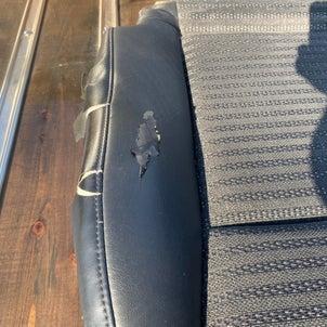 車のシートの部分張り替えの画像