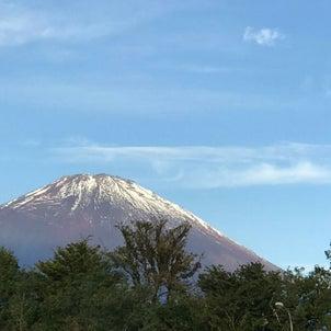 今朝の富士山の画像