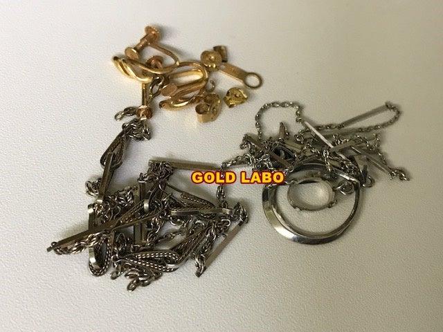 金 K18 ピアス、イヤリング、Pt850 ネックレス買取 札幌