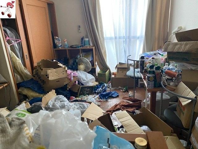 引っ越しを切っ掛けに要らない物を片付け(ビフォーアフター)名古屋市中心にゴミ屋敷清掃