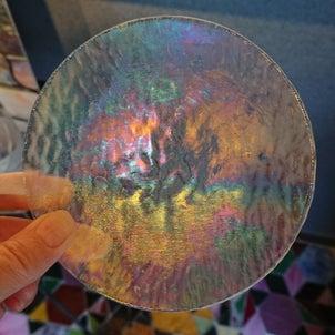今日の小皿と大皿と制作ランプ点灯してみたの画像