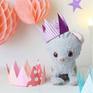 【アイデア】つなげるだけで簡単!折り紙のクラフト王冠の画像
