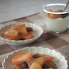りんごの簡単コンポートとアレンジクッキーの画像