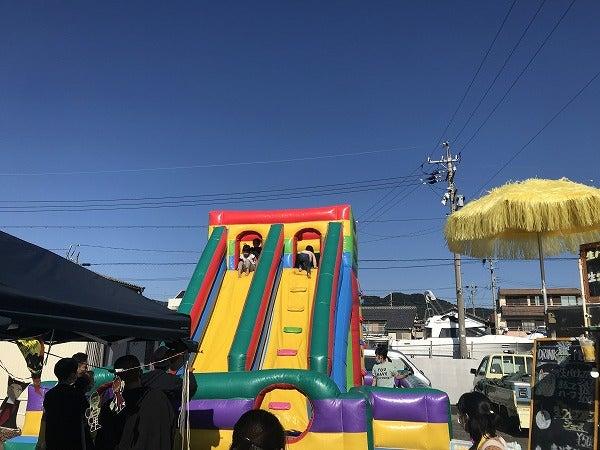 令和2年10月30日(土)三谷漁港祭子供用すべり台