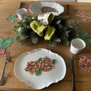 クリスマスのティータイムテーブルの画像