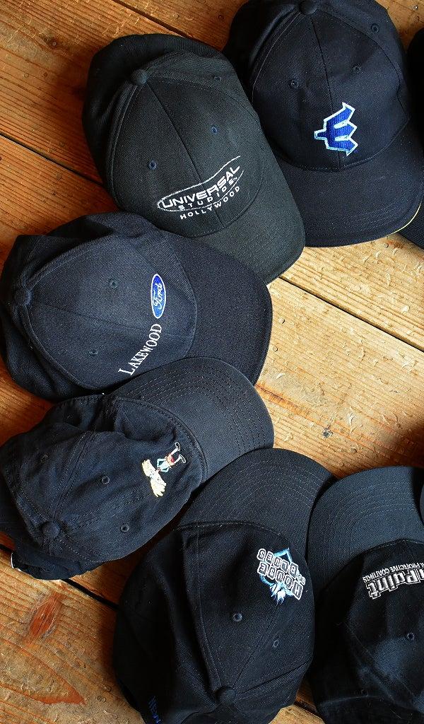 黒帽子ベースボールキャップ@古着屋カチカチ