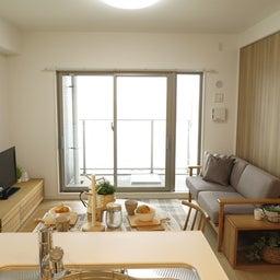 画像 マンションの家具の配置提案 ④ リビングと隣接する洋室とつなげて家具を配置!家具の配置換え提案も の記事より 4つ目