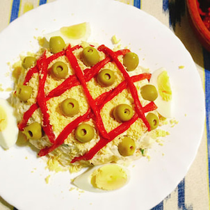 スペインのポテトサラダがデコレーション感満載な件の画像