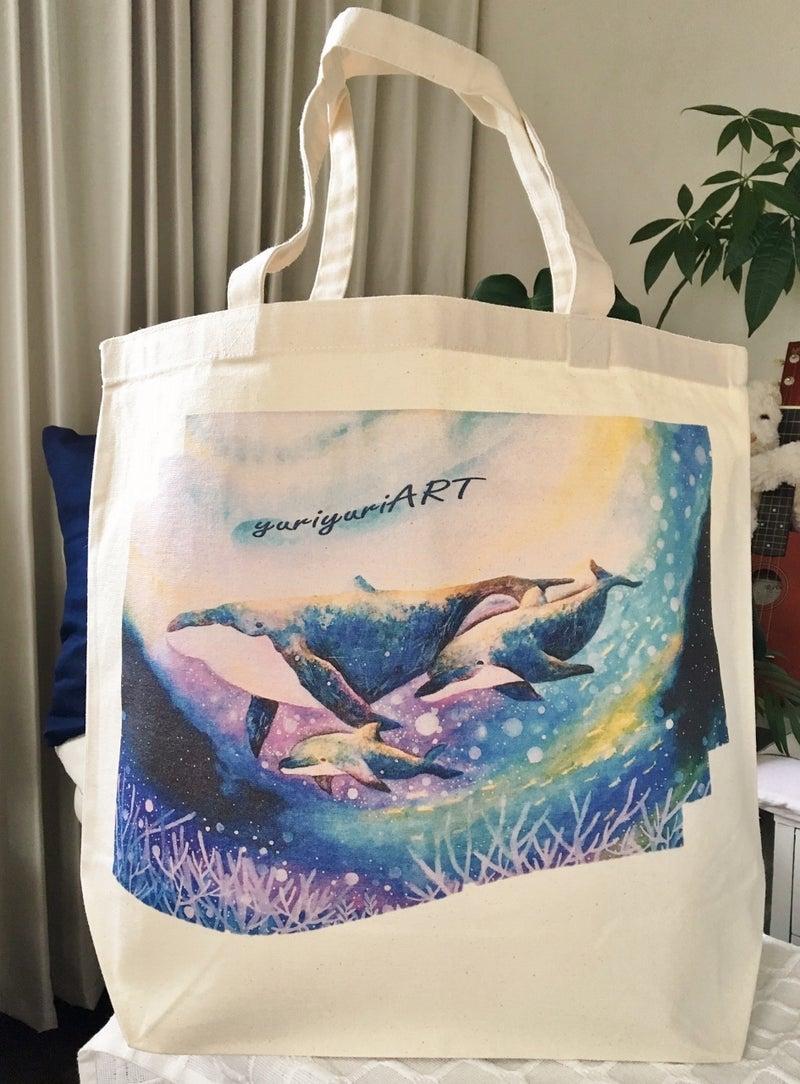 クジラ&イルカLサイズトートバッグ3300円
