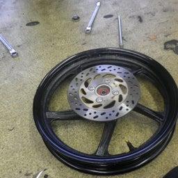 画像 スズキ アドレス110 CE47A タイヤ交換 タイヤパンク バイク 修理 名古屋市港区 の記事より 4つ目