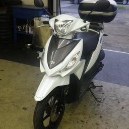画像 スズキ アドレス110 CE47A タイヤ交換 タイヤパンク バイク 修理 名古屋市港区 の記事より 1つ目