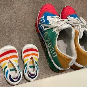 靴がペアルックの画像
