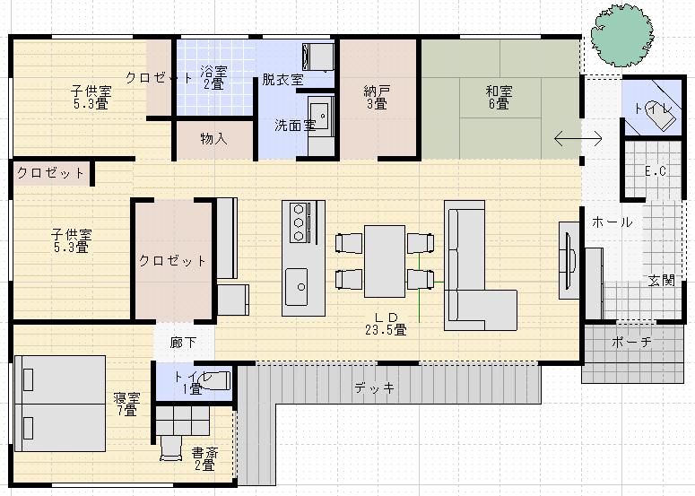間取り 平家 平屋の間取りを30坪~35坪で考えよう!住みやすい&おしゃれな間取りの考え方