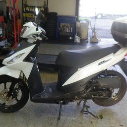 画像 スズキ アドレス110 CE47A ブレーキパッド交換 バイク 修理 名古屋市港区 の記事より 1つ目