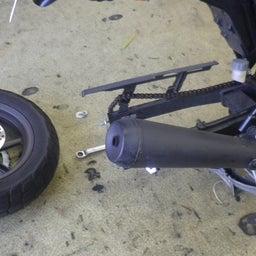 画像 ホンダ エイプ タイヤ交換 タイヤパンク タイヤひび割れ バイク 修理 名古屋市港区 の記事より 6つ目