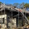 神社の瓦替えの画像