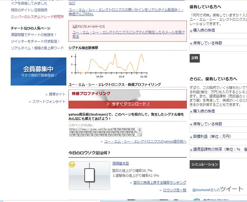 エレクトロニクス 株価 エムシー ユー