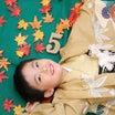 紅葉に囲まれて撮影 七五三写真撮影  ~子供専門写真館スタジオバンビ~