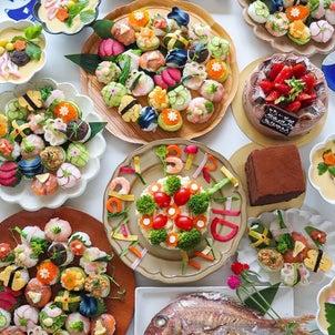 17種類の手まり寿司でお誕生日前夜祭の画像