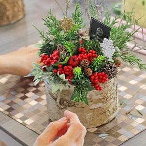 クリスマスアレンジレッスンレポ Emi Hana Styleの画像