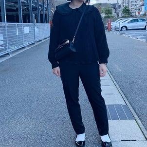 H&Mのブラウスでブラックコーデ&ウェットヘアの作り方の画像