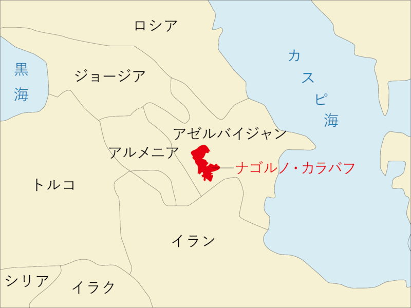 ナゴルノ・カラバフ 地図