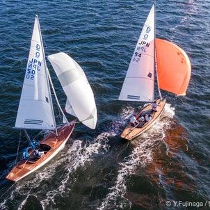 西宮沖でドラゴン級ヨットの全日本選手権が行われました。の画像