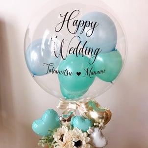 ご結婚祝いのバルーンアレンジメントの画像