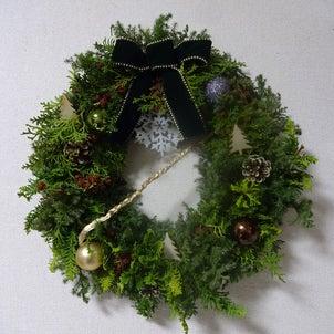 クリスマスリースの季節。の画像