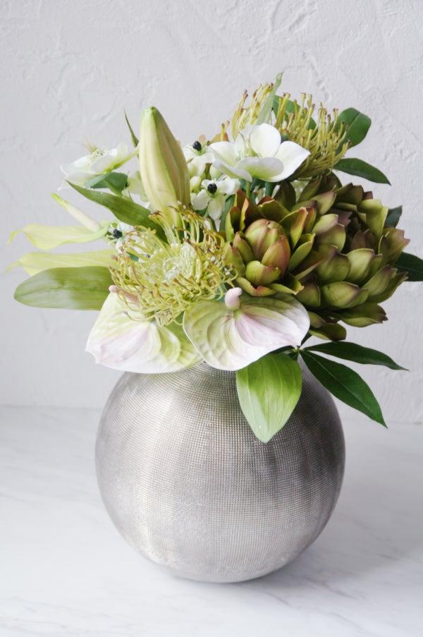 出産祝い 赤ちゃん ベビー グリーンの花束 造花
