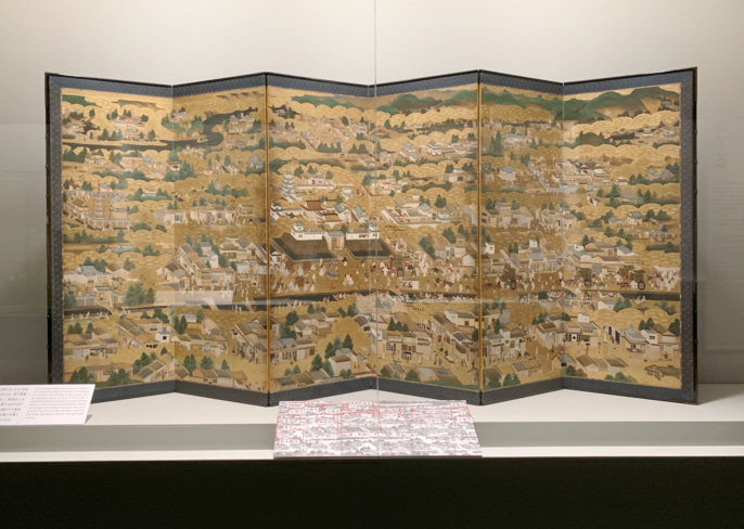 屏風 洛中洛外図 日本美術の裏の裏 サントリー美術館