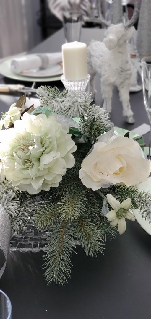 エミココクリスマステーブル☆パステルクリスマスをね