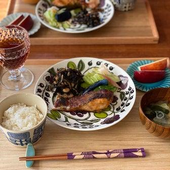鮭の和風はちみつ紫蘇味噌焼き