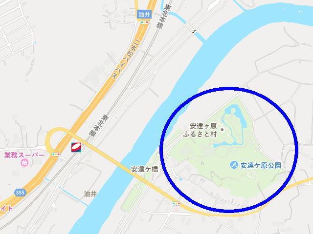 11/30(月)「安達ヶ原ふるさと村(福島県二本松市)」放射線量マップ ...