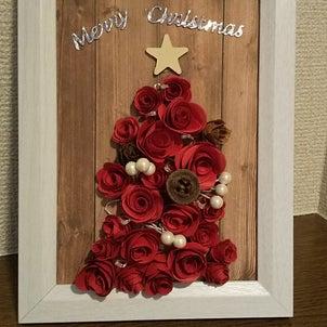 クリスマスツリー作りました・・・光ります♪の画像