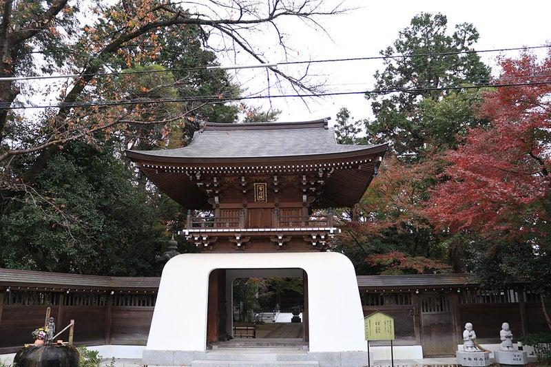 調布大正寺の山門。とても立派な櫓門