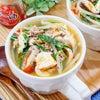 ピリ辛♡豆腐とひき肉ニラもやしの具だくさん中華スープ♪の画像