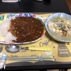鶏の水炊きとハヤシライスの画像