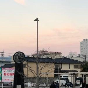 今朝の立待月の画像