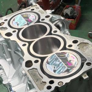 EK9,K20A改K24Rエンジン始動、DC5,K20A改K21R腰下組付け。F24制作車両入庫の画像