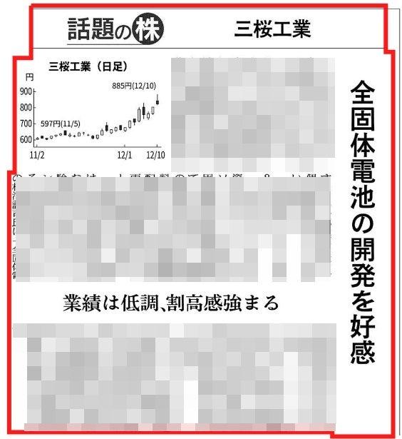 掲示板 三桜工業 株価 三桜工業 株価