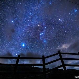 ★蝶の湖展望台の星空★の画像