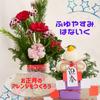 冬休みの花育~お正月アレンジ&鏡餅アレンジの画像