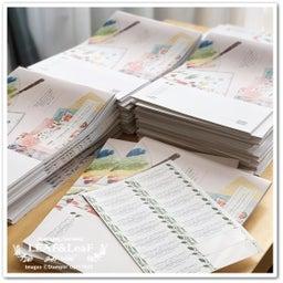 画像 【コツコツと】今月のプレゼント、新カタログ&手作りカードを着々と発送しています! の記事より 2つ目