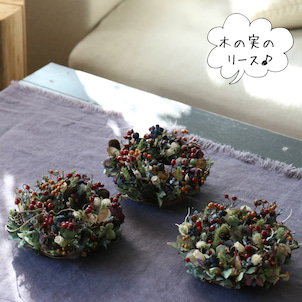プレゼントの木の実のリース・販売の画像