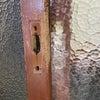 玄関引き戸 木製扉ディンプルキーへ交換取付 富山の鍵屋の画像