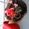 ★ダイソー100均で作る ! お正月&成人式に使える髪飾り♪の画像