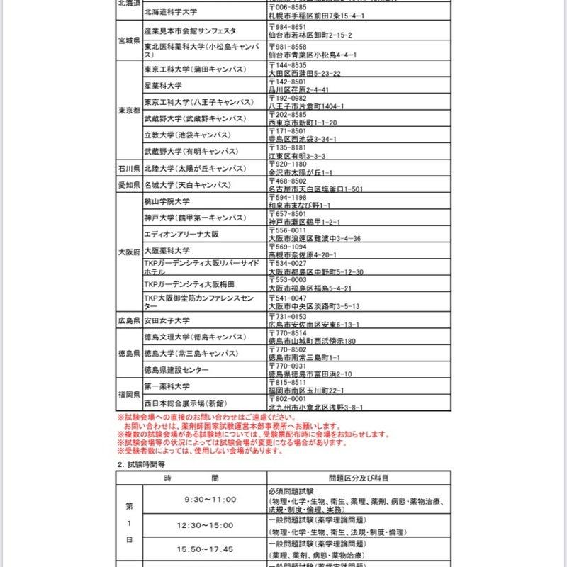 国家 106 薬剤師 試験