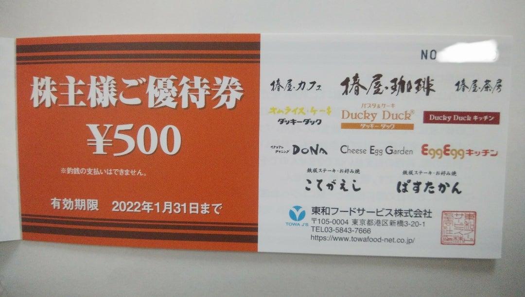 東和フードサービスから株主優待が届きました   きなこの株主優待と ...