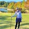 柄物×柄物ゴルフウェアコーデの画像
